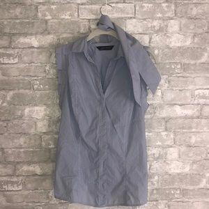 Zara Basic Sleeveless Shirt with Tie
